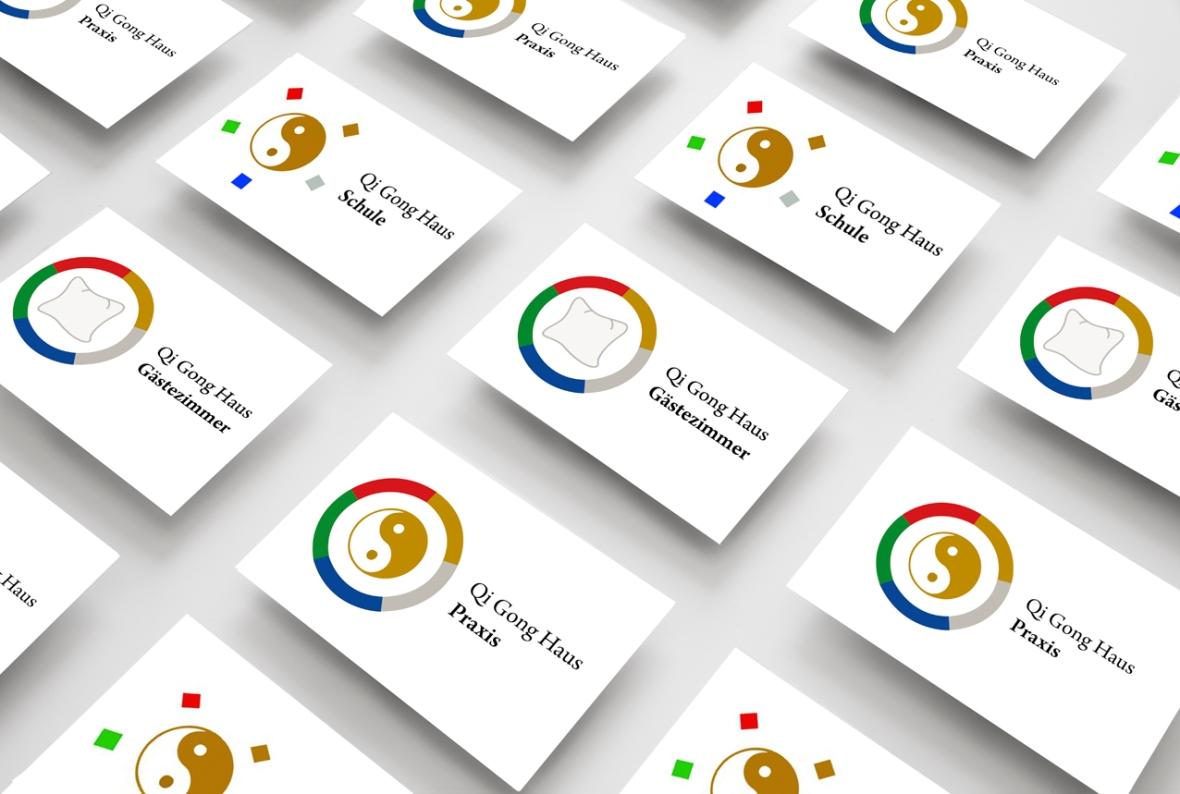 Visitenkarten für das Qi Gong Haus: Praxis, Schule und Gästezimmer